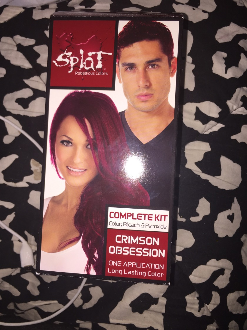 Splat Crimson Hair Dye Part 1 Beauty Brains
